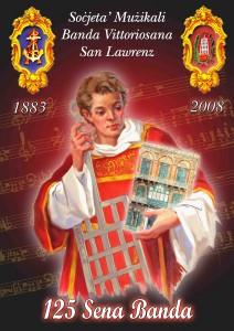 Il-poster ċelebrattiv f'Għeluq il-125 Sena tal-Banda San Lawrenz